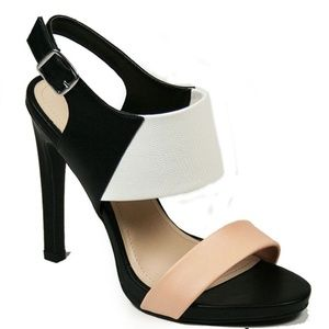 Anne Michelle Iceland High Heel Sandal - Size 6